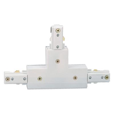 White T-Connector for Linear Track Lighting