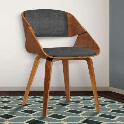 Ivy 30 in. Charcoal Fabric and Walnut Wood Finish Dining Chair