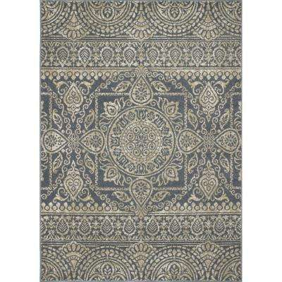 New Casa Aubosson Blue 7 ft. 10 in. x 10 ft. 6 in. Area Rug