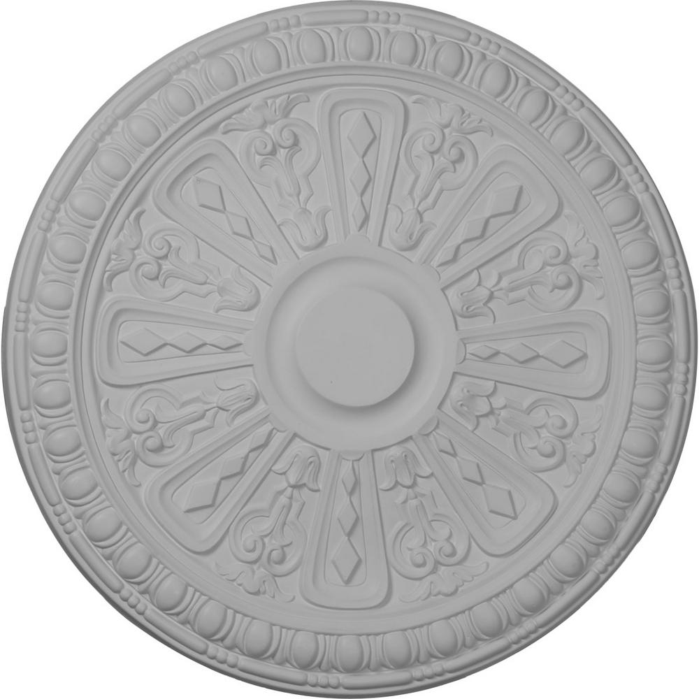 Ekena Millwork 18 in. x 1-1/4 in. Raymond Urethane Ceiling Medallion (Fits Canopies upto 5-3/8 in.) Hand-Painted Mississippi Mud