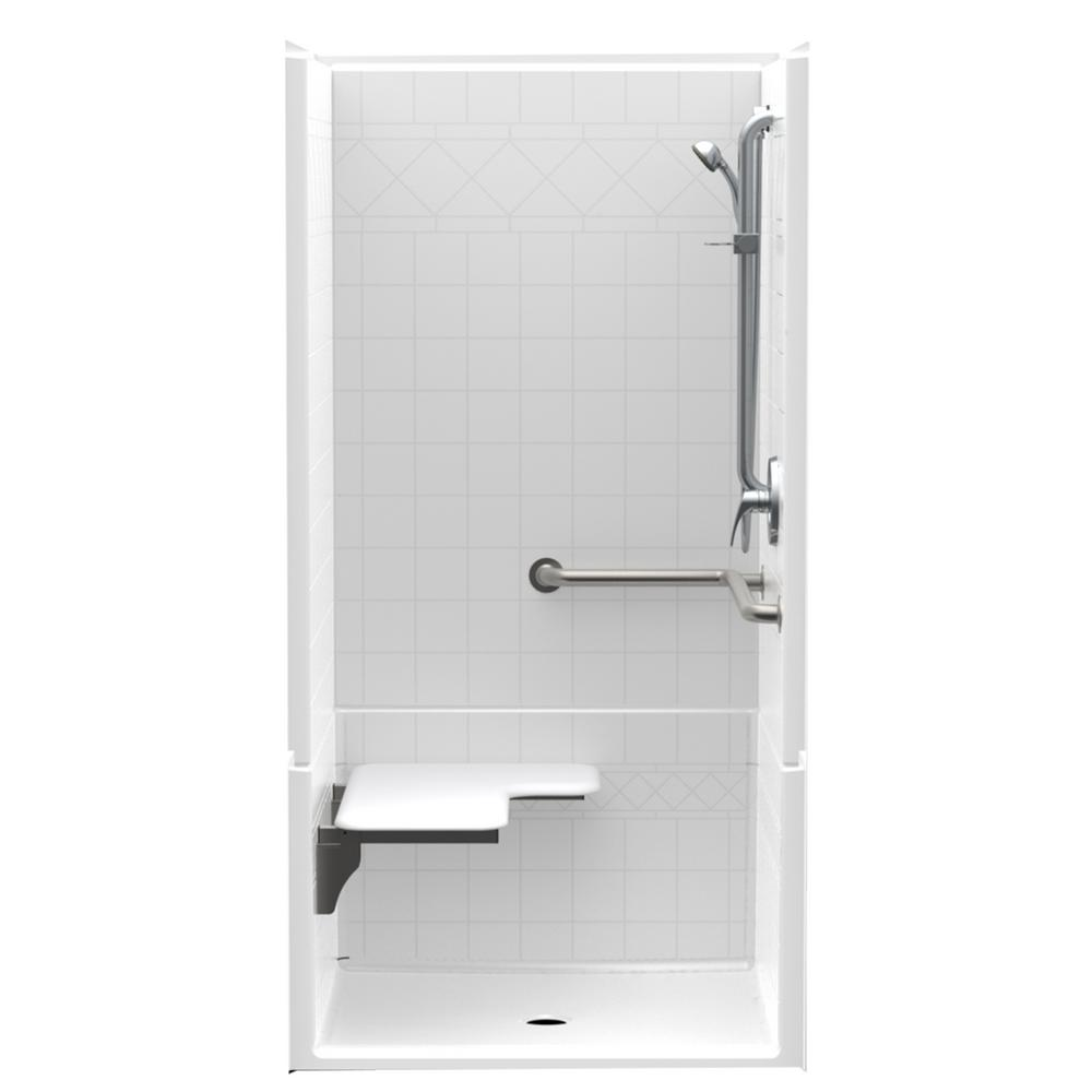 Accessible Diagonal Tile AcrylX ADA Configured 36in. x 36in. x 76in.
