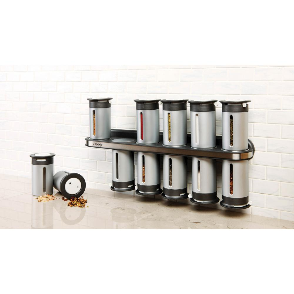 Zero Gravity 12-Canister Wall-Mount Magnetic Spice Rack