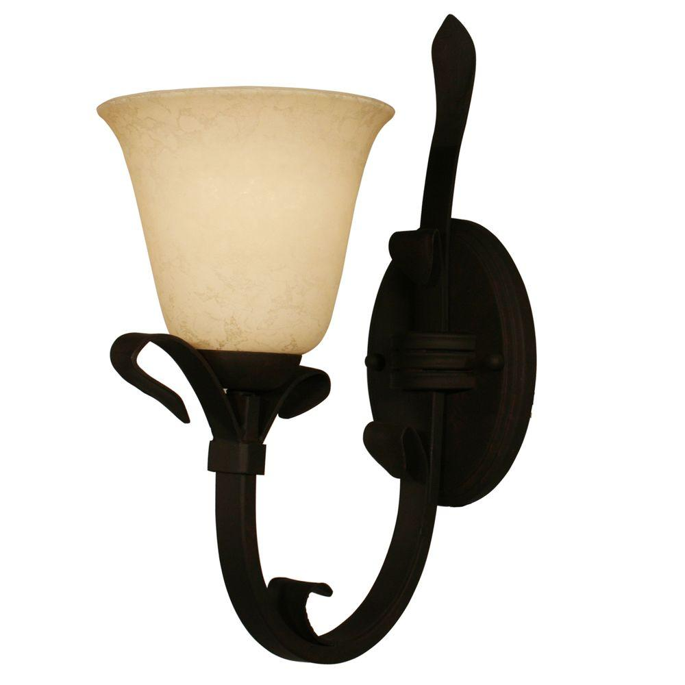 Tulen Lawrence 1 Light Wall Matte Coffee Incandescent Sconce-DISCONTINUED