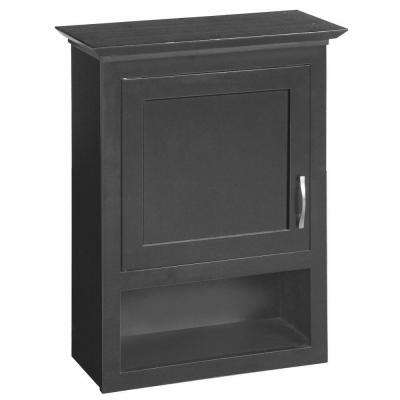 Ventura 23-1/8 in. W x 30 in. H x 10 in. D Bathroom Storage Wall Cabinet in Espresso