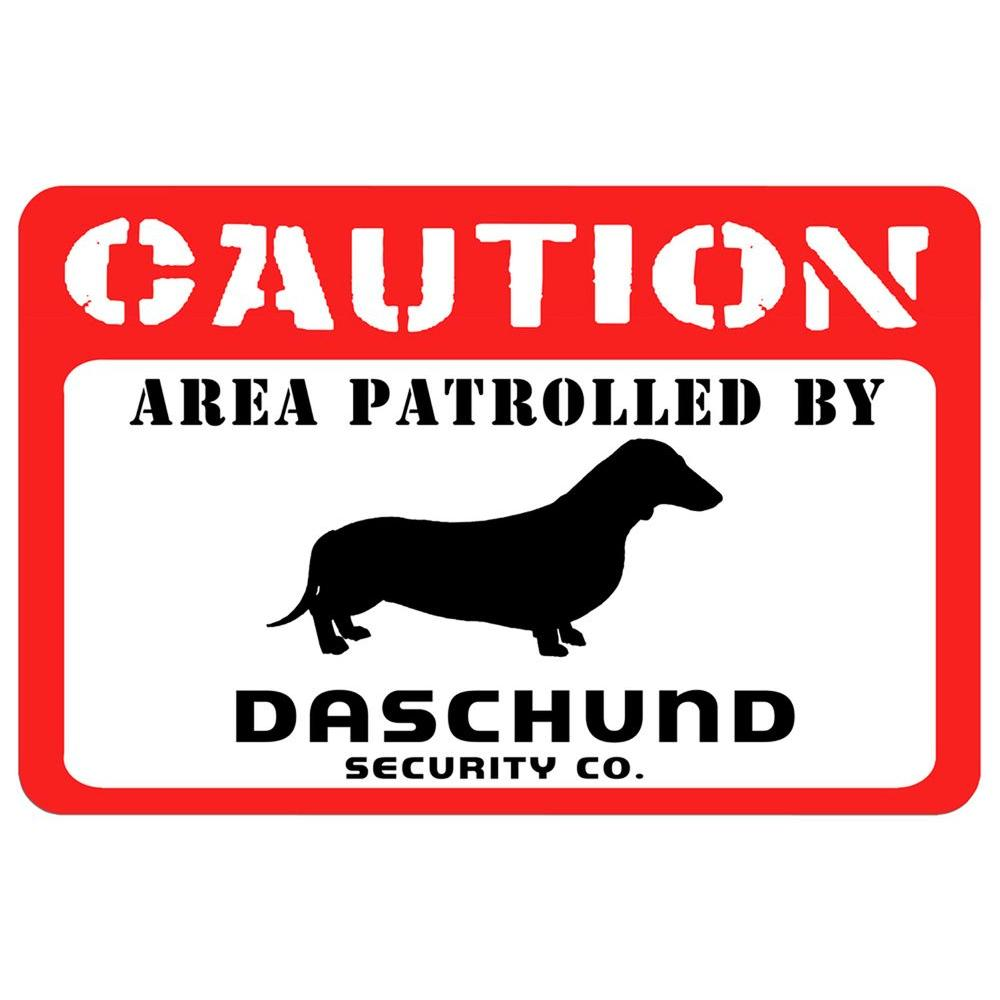 Bungalow Printed Caution: Dachshund 17.5 in. x 26.5 in. P...