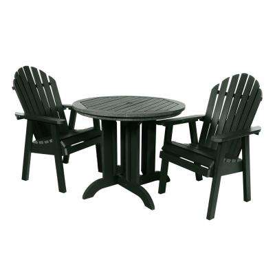 Muskoka Charleston Green 3-Piece Plastic Round Outdoor Dining Set