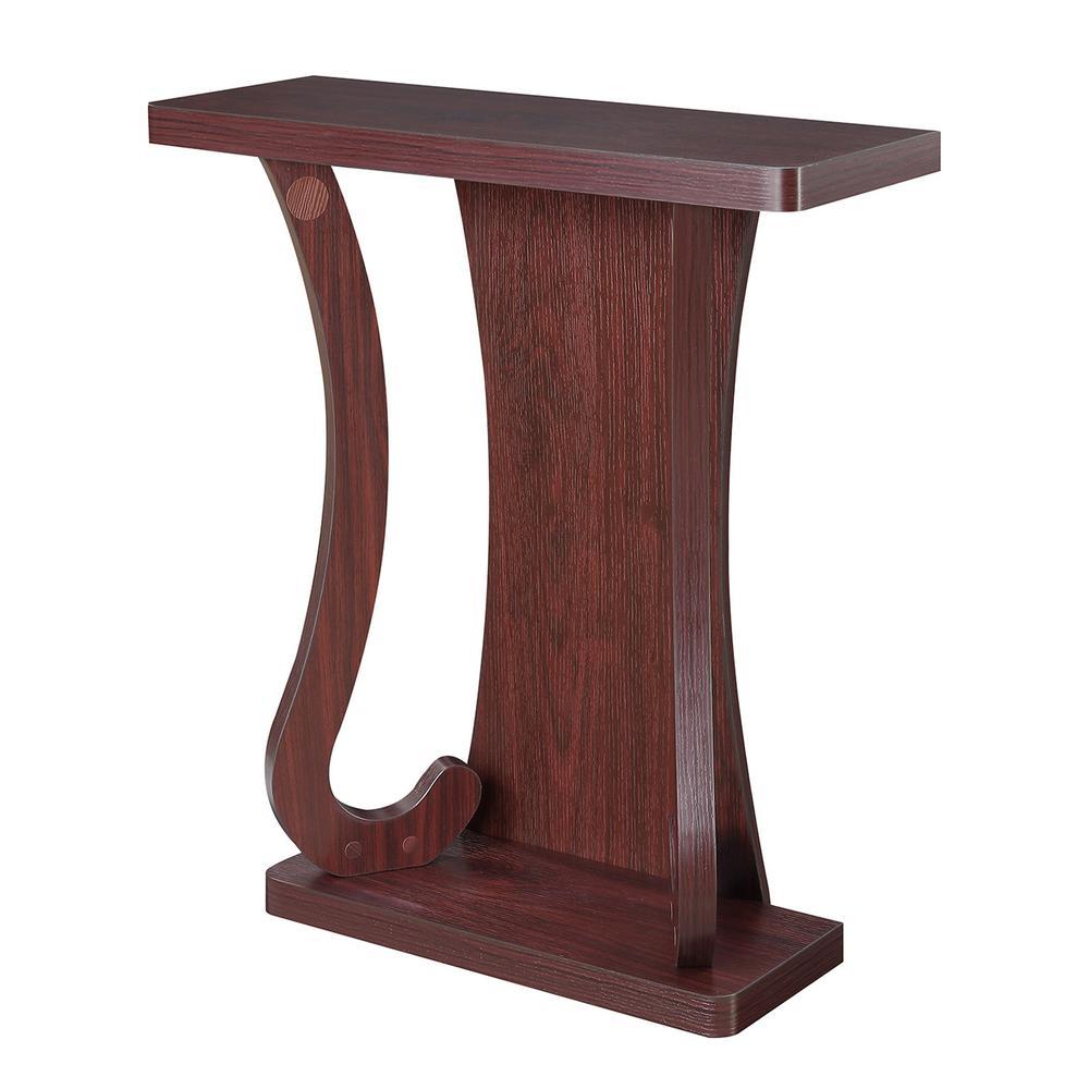 Convenience concepts newport mozart mahogany console table convenience concepts newport mozart mahogany console table geotapseo Gallery