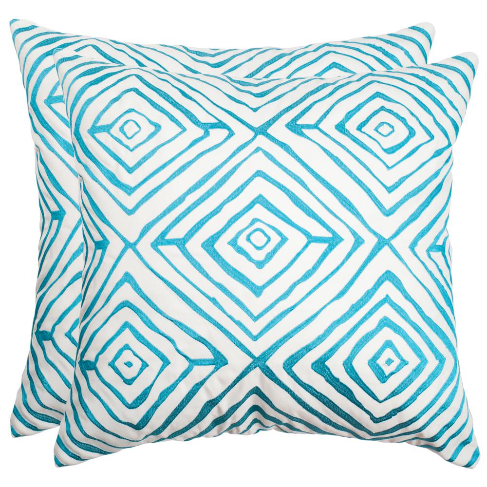 Diamonds Five Soleil Square Outdoor Throw Pillow (Pack of 2)