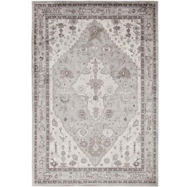 Jewels Grey, Natural and Ivory 5 ft. 3 in. x 7 ft. 6 in. Area Rug