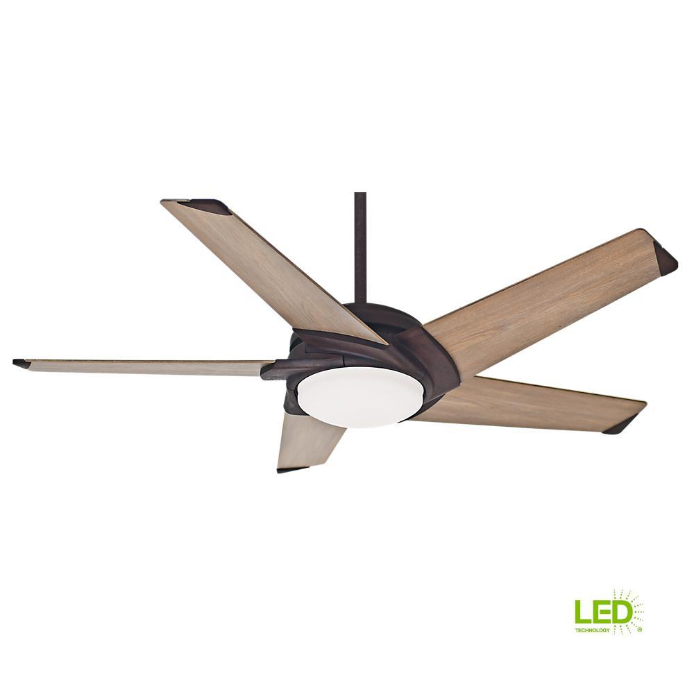 Casablanca Stealth 54 In Integrated Led Indoor Rust Ceiling Fan With Universal Wall Control
