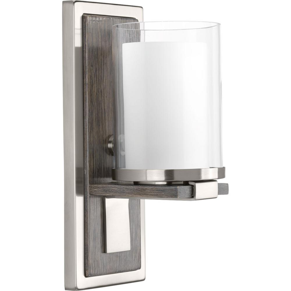 Progress Lighting Mast Collection 1 Light Brushed Nickel Wall Sconce