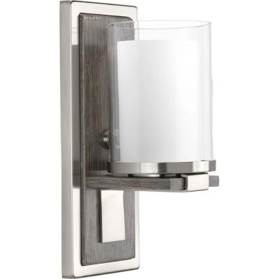 Mast Collection 1-Light Brushed Nickel Wall Sconce
