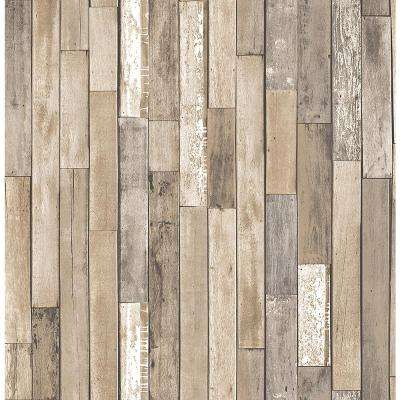 Stone brick and wood brown wallpaper wallpaper for Brewster wallcovering wood panels mural 8 700