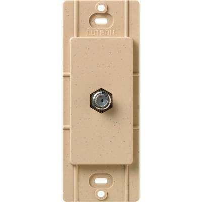 Satin Colors Coaxial Cable Jack - Desert Stone