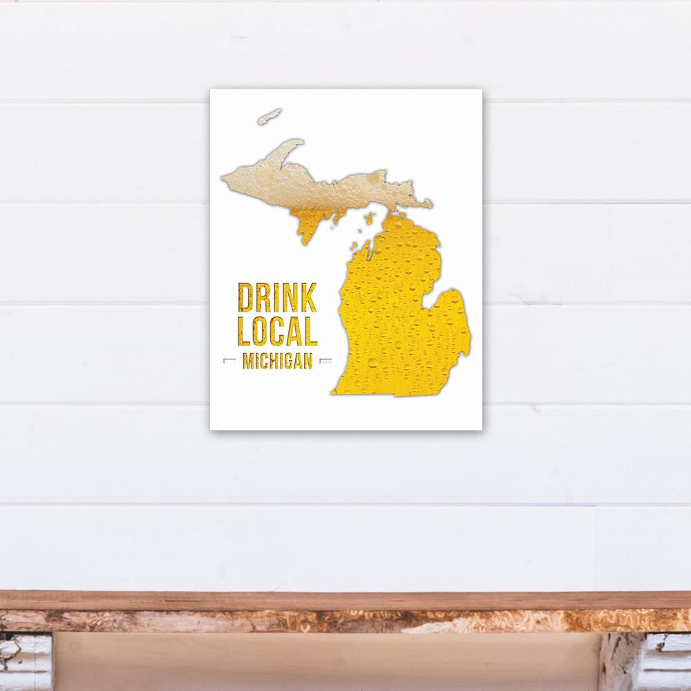 Designs direct 16 in x 20 in michigan drink local beer for Direct from the designers
