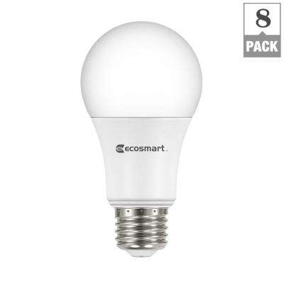 60-Watt Equivalent A19 Non-Dimmable Basic LED Light Bulb, Daylight (8-Pack)