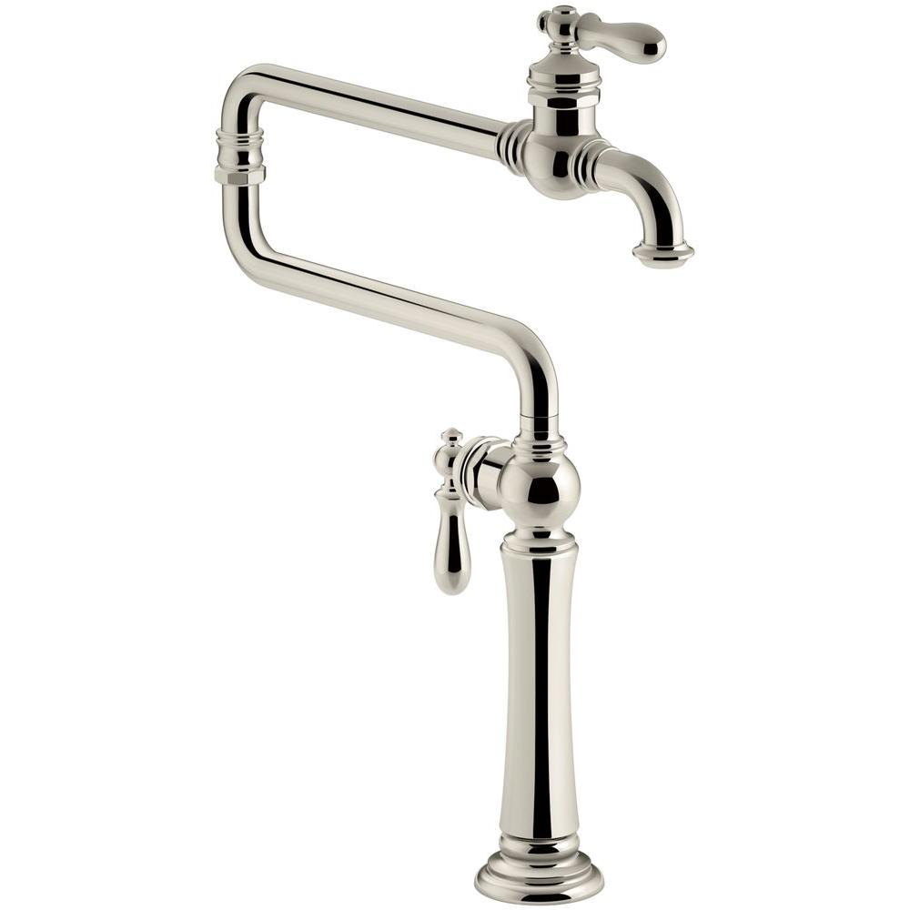 Artifacts 2-Handle Deck Mounted Potfiller in Vibrant Polished Nickel