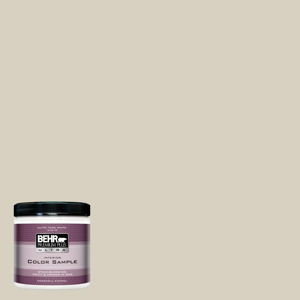 Behr Premium Plus Ultra 8 Oz Ppf 14 Traditional Tan Eggshell Enamel Interior Paint And Primer In One Sample