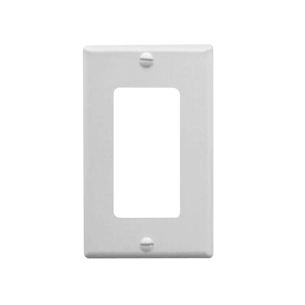 ICC 1 Gang Wall Switch Plate - White