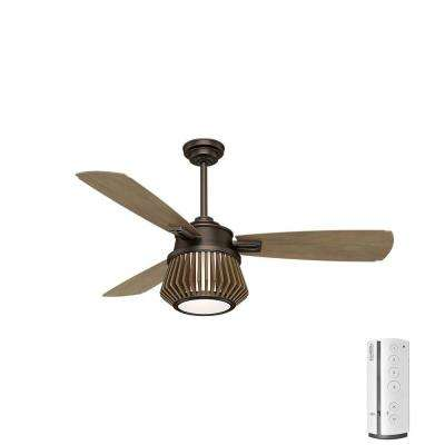 Glen Arbor 56 in. LED Indoor Metallic Chocolate Ceiling Fan