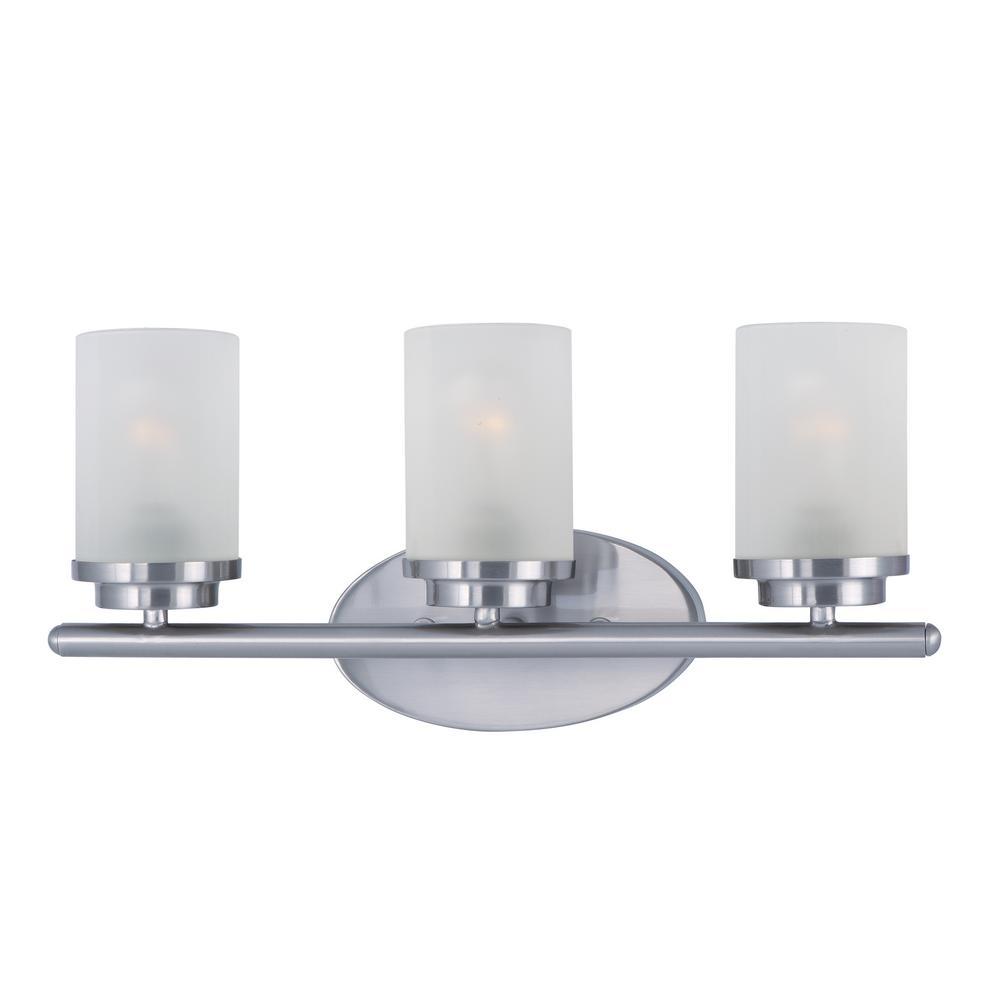 Maxim Lighting Corona 3 Light Satin Nickel Vanity Bath