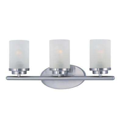 Corona 3-Light Satin Nickel Vanity Bath Light
