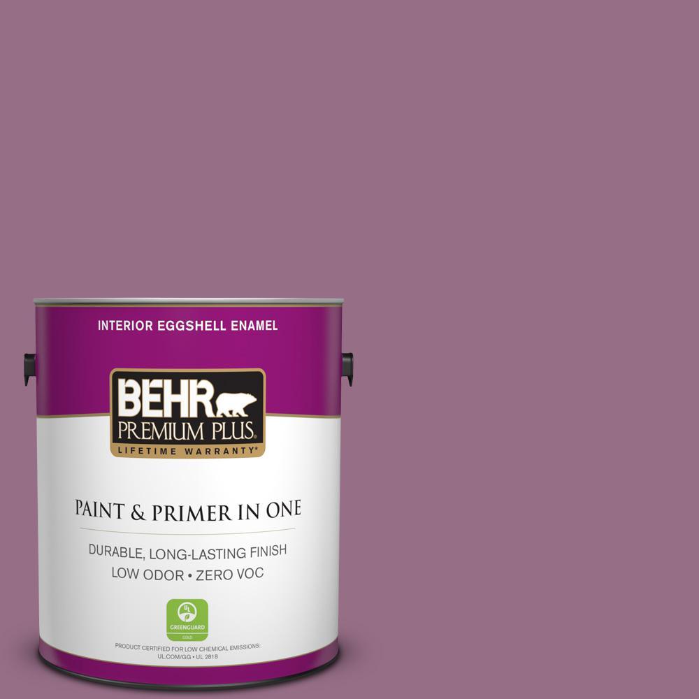 BEHR Premium Plus 1-gal. #690D-6 Meadow Flower Zero VOC Eggshell Enamel Interior Paint