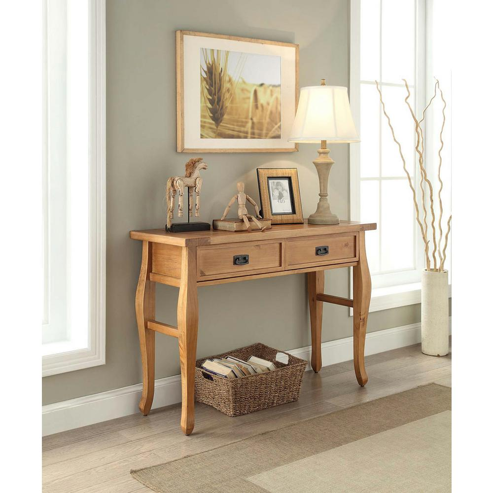 Attrayant Linon Home Decor Santa Fe Antique Pine Storage Console Table
