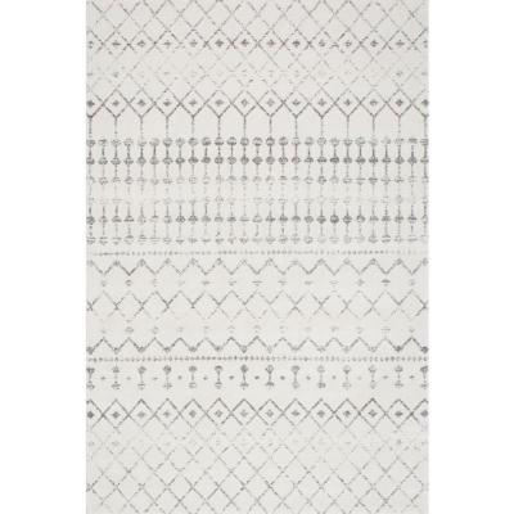Blythe Modern Moroccan Trellis Gray 10 ft. x 14 ft. Area Rug