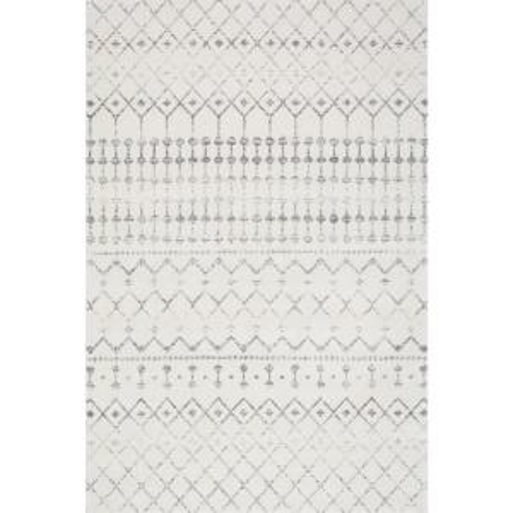 Blythe Modern Moroccan Trellis Gray 2 ft. x 3 ft. Area Rug