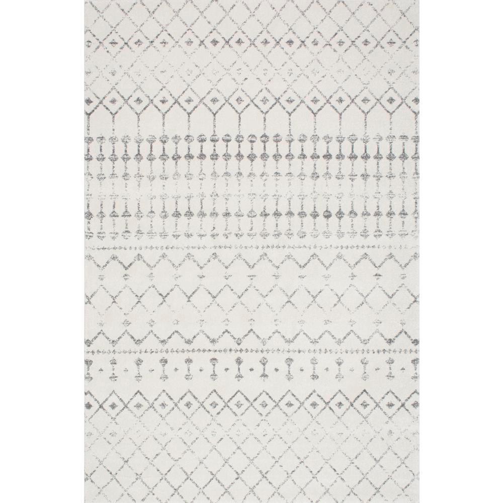 Blythe Modern Moroccan Trellis Gray 8 ft. x 10 ft. Area Rug