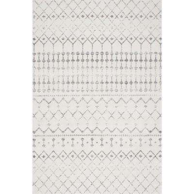 Blythe Moroccan Transitional Gray 9 Ft X 12 Area Rug