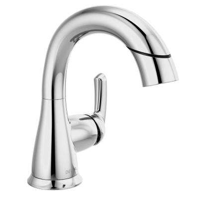 Broadmoor 4 in. Centerset Single-Handle Pull-Down Sprayer Bathroom Faucet in Chrome