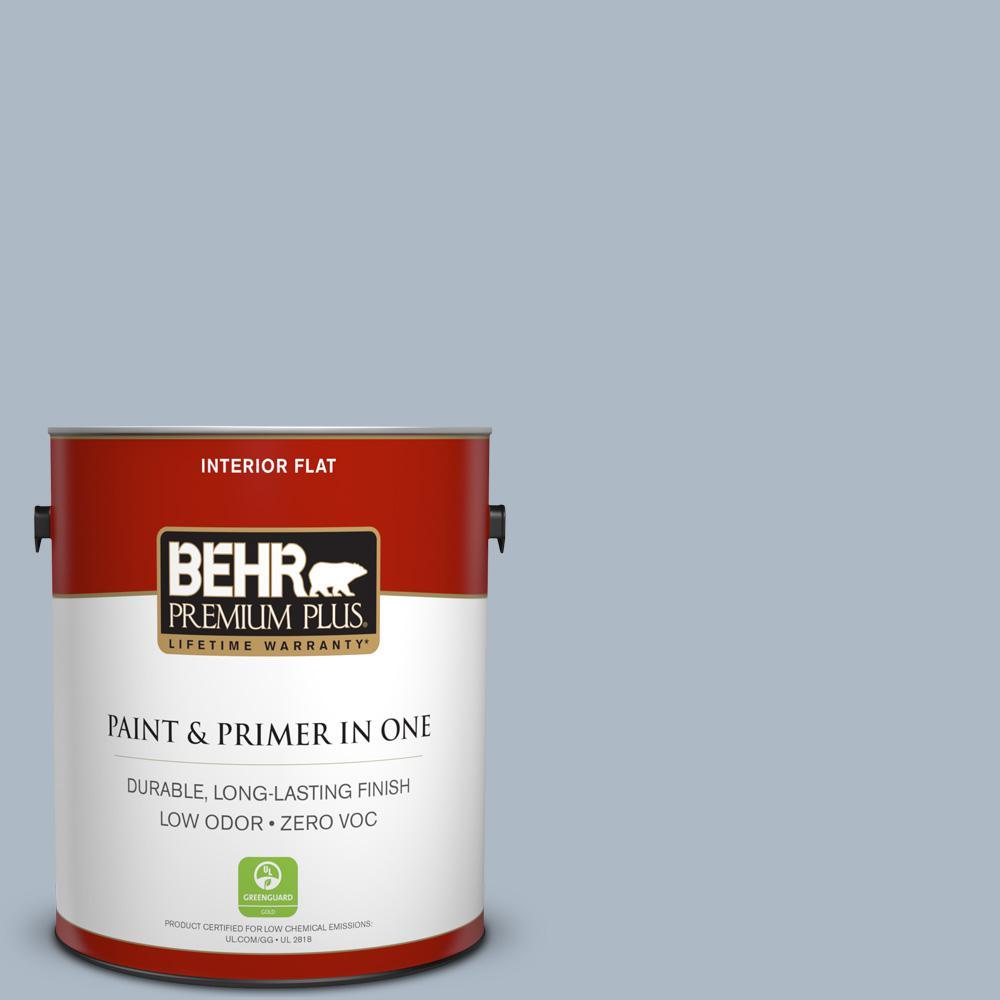 1 gal. #PPU14-12 Hazy Skies Zero VOC Flat Interior Paint