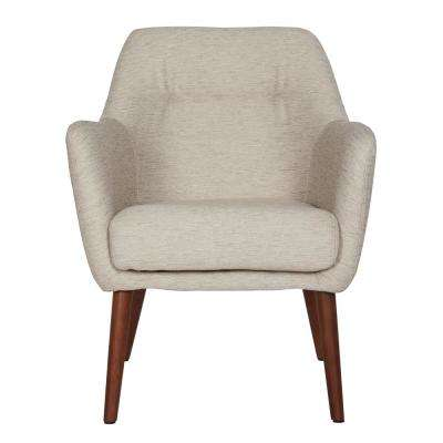 Julesburg Mid-Century Modern Arm Chair in Oatmeal Tan Textured Strie
