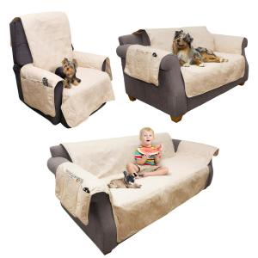 Stupendous Petmaker Non Slip Tan Waterproof Chair Slipcover M320122 Customarchery Wood Chair Design Ideas Customarcherynet