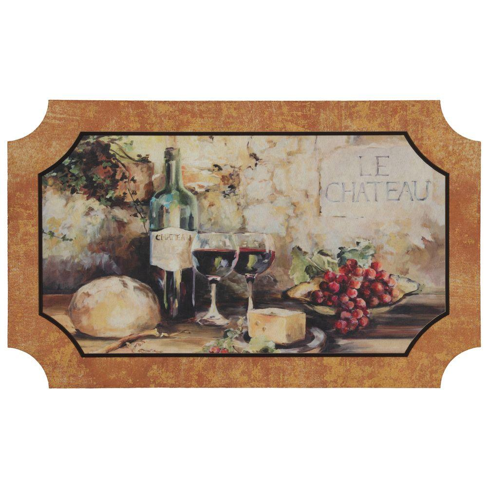 Mohawk Home 22 in. x 36 in. Le Chateau Vino Comfort Mat