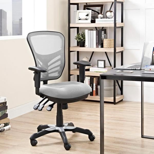 MODWAY Articulate Mesh Office Chair in Gray EEI-757-GRY