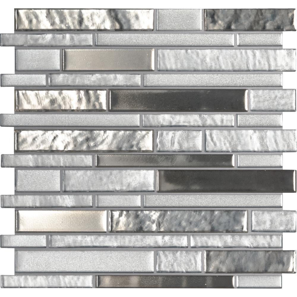 Adara Interlocking 12 in. x 12 in. x 8 mm Glass