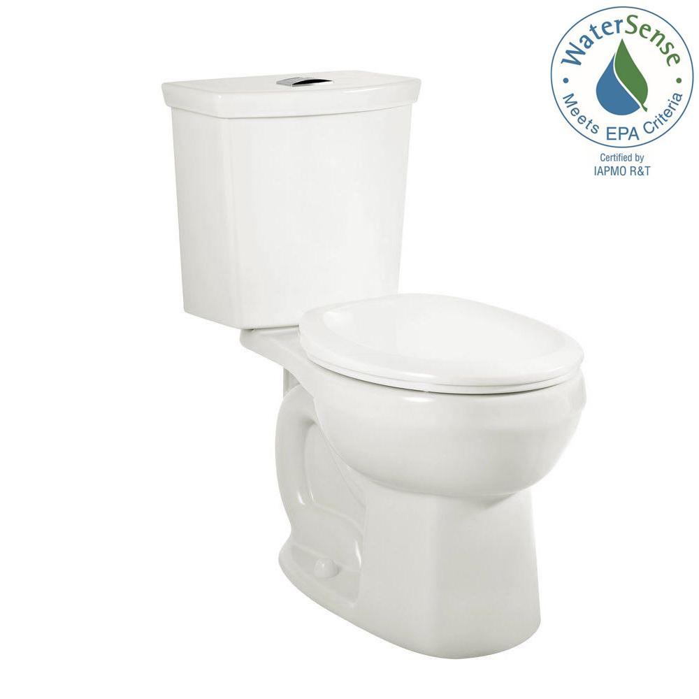 H2Option 2-piece 0.92/1.28 GPF Dual Flush Round Front Toilet with Liner