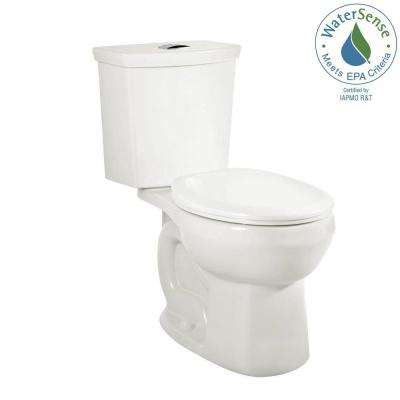 H2Option 2-piece 0.92/1.28 GPF Dual Flush Round Front Toilet with Liner in White