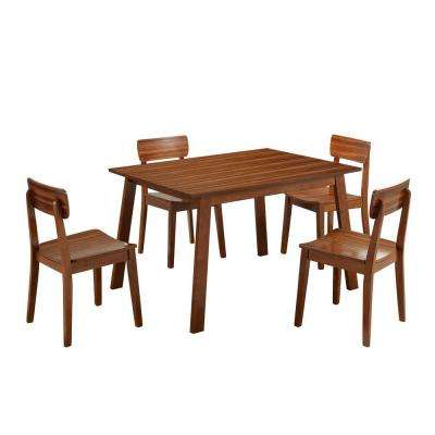 Zebra Hagen 5-Piece Rich Walnut Dining Set