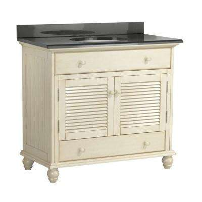 Cottage 37 in. W x 22 in. D Vanity with Colorpoint Vanity Top in Black