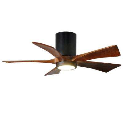 Irene 42 in. LED Indoor/Outdoor Damp Matte Black Ceiling Fan with Light with Remote Control and Wall Control