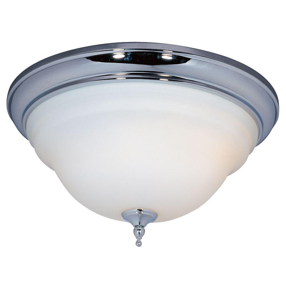 World Imports 3-Light Flush-Mount Chrome Ceiling Light-DISCONTINUED