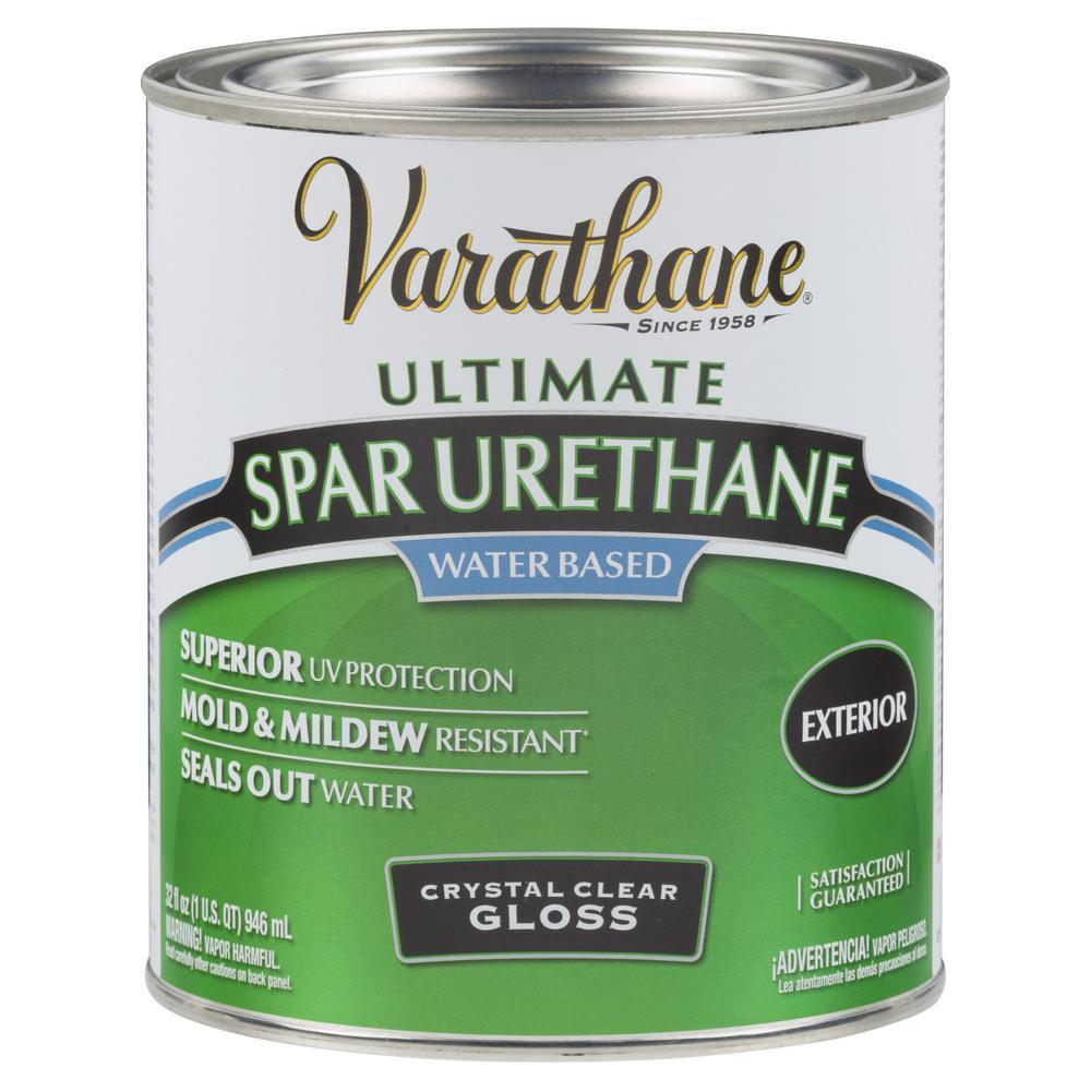 Varathane 1 qt. Clear Gloss Water-Based Exterior Spar Urethane (2-Pack)
