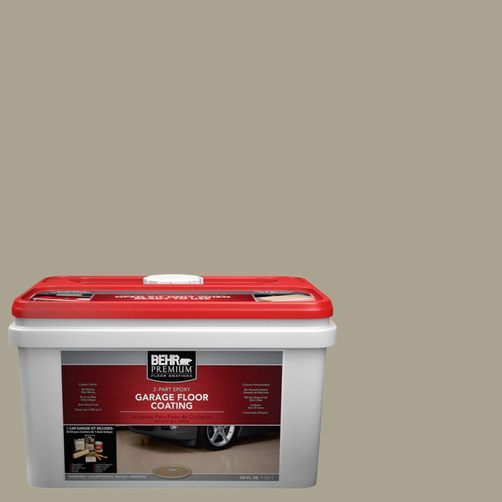 BEHR Premium 1-gal. #PFC-37 Putty Beige 2-Part Epoxy Garage Floor Coating Kit