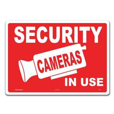 14 in. x 10 in. Security Cameras in Use Sign Printed on More Durable Thicker Longer Lasting Plastic Styrene