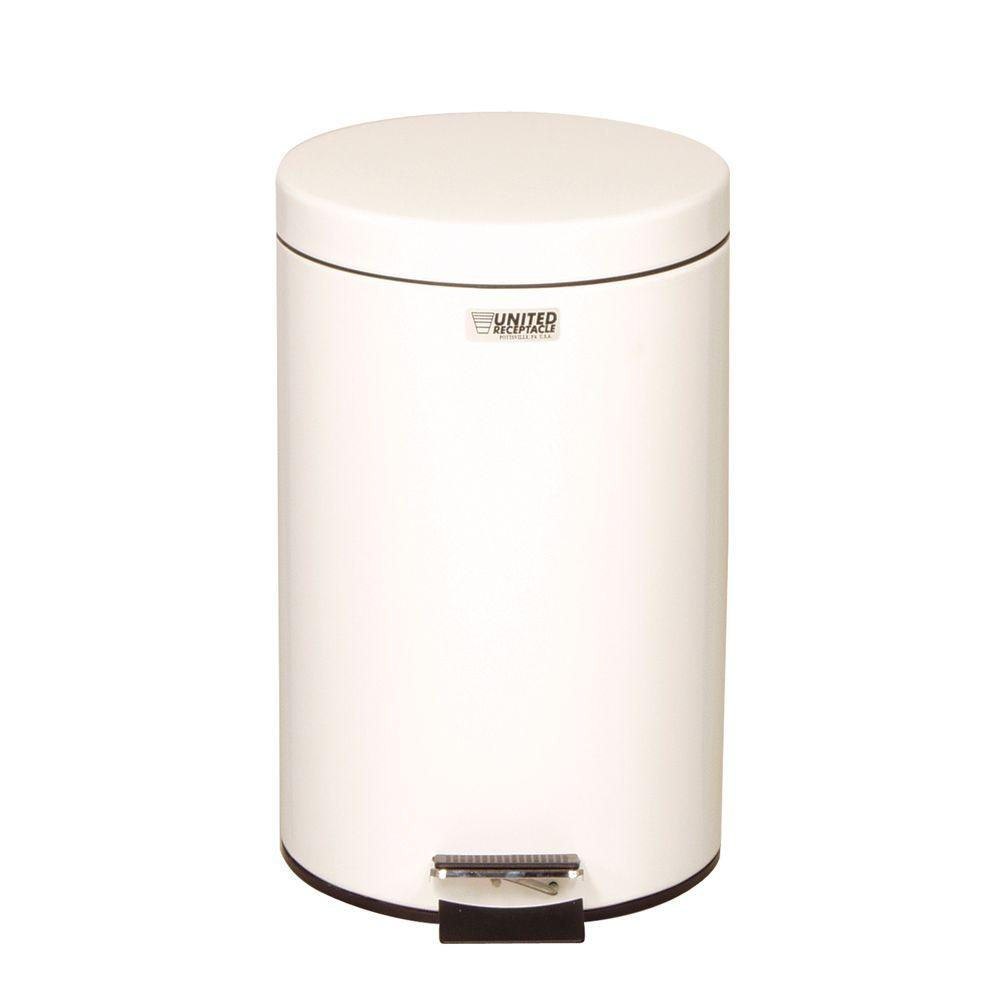 Rubbermaid Commercial Products Medi-Can 3.5 Gal. White Step-On Medical Trash Can
