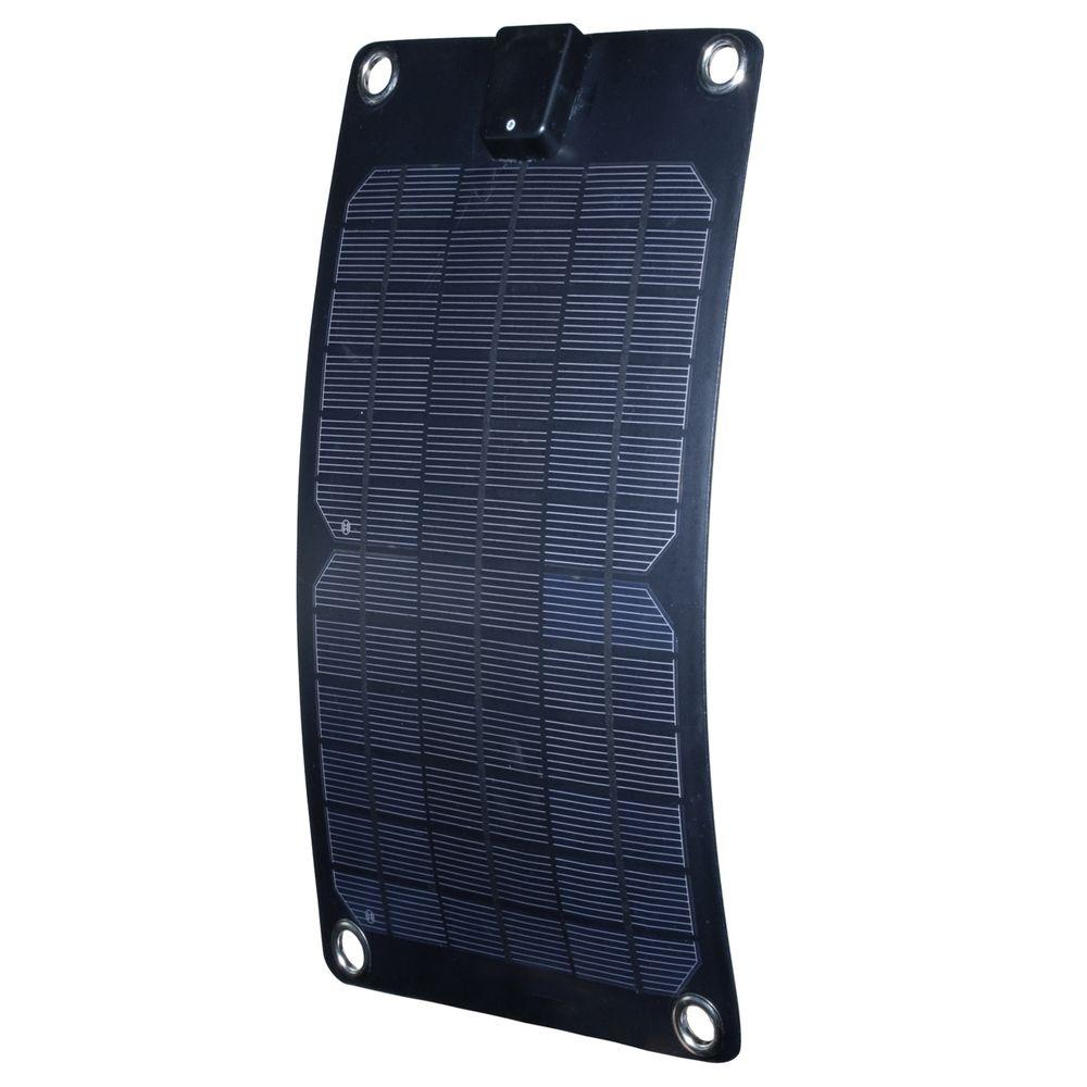 5-Watt Semi-Flex Monocrystalline Solar Panel 12-Volt Battery Maintainer
